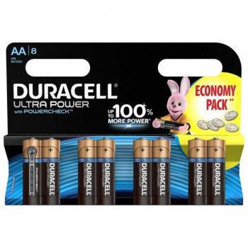 Батарейка Duracell AA Ultra Power LR6 * 8 (5004807)