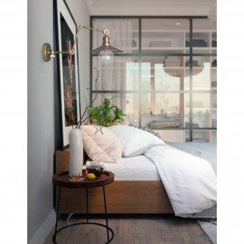 Бра для вітальні, спальні, вітальні, офісу, прихожої, кафе 802 мідь мідний/латунь коричневий PikArt