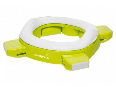Дорожный горшок HandyPotty в фирменной сумке, 3 одноразовых пакета в комплекте. Цвет лайм. HP-250GR
