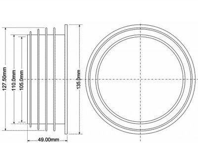 Манжет гумовий McALPINE 127х110 мм (5036484020727)