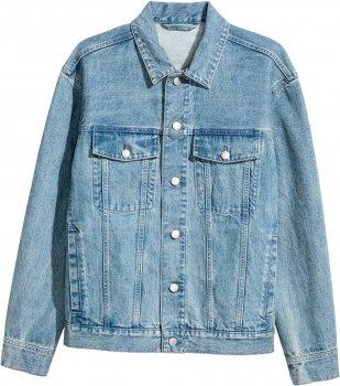Куртка джинсова H&M 12-4976409 Блакитна