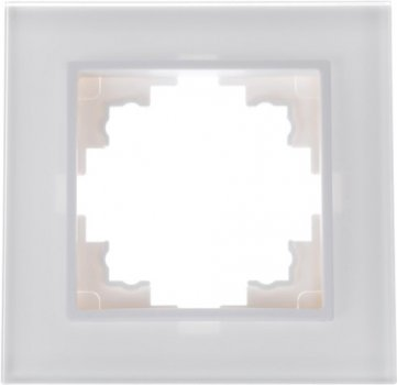 Одинарна рамка Brille NB-1F Біла (скло) (42-233)
