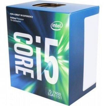 Процесор CPU Core i5-7400 QUAD-CORE 3,00 Ghz-3,50 GHz(Turbo)/6Mb/14nm/65W Kaby Lake-S (BX80677I57400) s1151 BOX