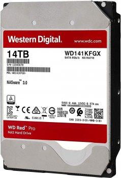 Жорсткий диск Western Digital Red Pro NAS 14TB 7200rpm 512MB WD141KFGX 3.5 SATA III
