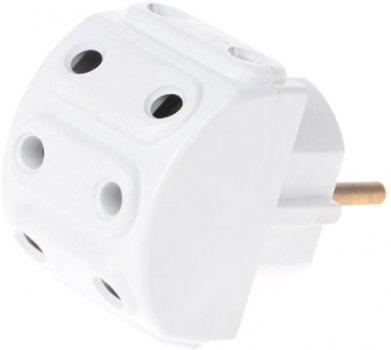 Розгалужувач мережевий Brille R-5A 5 розеток White (135292)