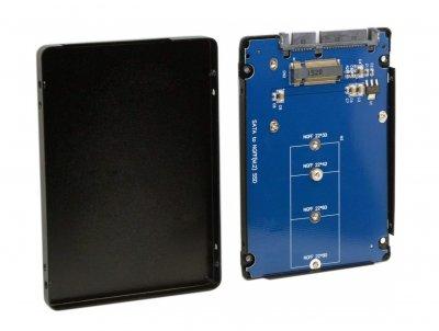 """Конвертор STLab 2.5"""" SATA to M. 2 (NGFF) SSD для ноутбука/ПК (Black)"""
