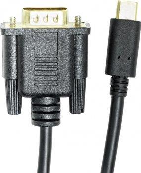 Кабель PowerPlant USB Type-C 3.1 (M) — VGA (M) 1 м Чорний (CA912117)