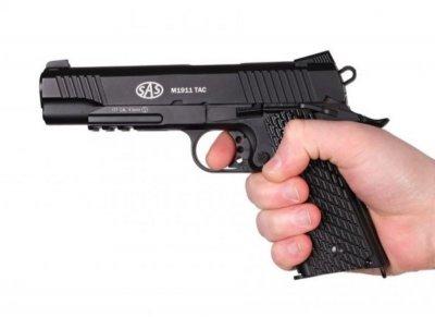 Пістолет пневматичний SAS M1911 Pellet кал. 4.5 мм. 23703050