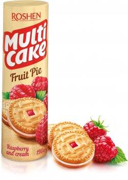 Упаковка печенья Roshen Multicake с начинкой малина-крем 195 г x 28 шт (4823077628801)