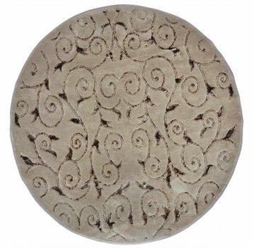 Коврик для ванной Аrya. Sarmasik коричневый, круглый-Диаметр 120 см