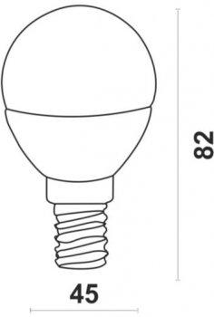Світлодіодна лампа Ultralight LED P45 6W 4100K E14 ЕКО (UL-50889)