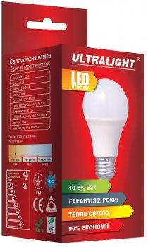 Светодиодная лампа Ultralight LED A60 10W 3000K E27 (UL-49126)