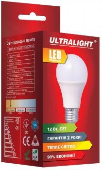 Світлодіодна лампа Ultralight LED A60 12W 3000K E27 (UL-49719)