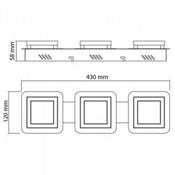 Світильник світлодіодний Horoz Electric LIKYA-3 настінно-стельовий 3х5Вт 3х150Лм 4000К (036-007-0003)