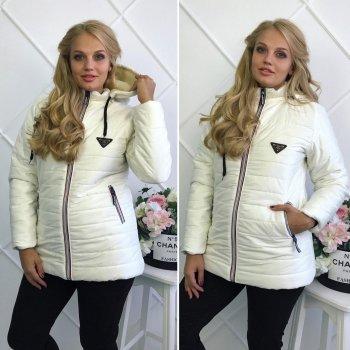 """Женская куртка на синтепоне """"Аляска"""" белый"""