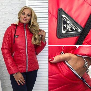 """Женская куртка на синтепоне """"Аляска"""" красный"""