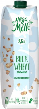 Напиток Vega Milk гречневый ультрапастеризованный 950 мл (4820192262064)