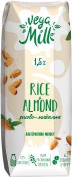 Упаковка напитка Vega Milk рисово-миндального ультрапастеризованного 250 мл х 15 шт (4820192262217)