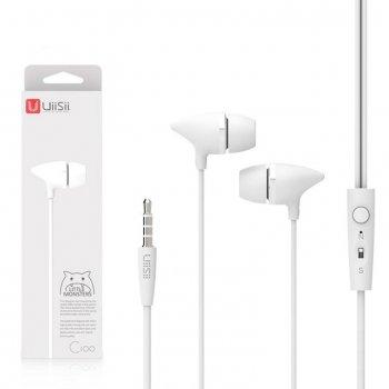 Наушники с микрофоном UiiSii C100 белые