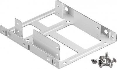 Деталь монтажна Lucom Монтажна рама (HDD) 3.5-2.5x2 кріплення (піддон) срібний(25.02.5037)
