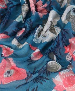Шаль Traum 2498-660 90х170 см Бирюзово-голубая (4820024986601)