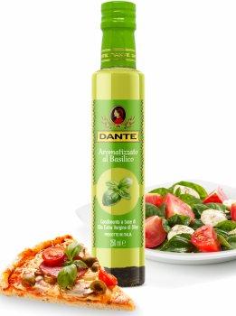 Оливкова олія Olio Dante Extra Virgin першого холодного пресування зі смаком базиліка 250 мл (8033576194011_8033576194936_18033576194933)
