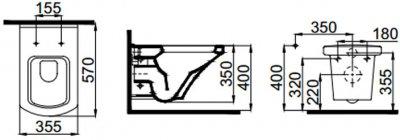 Унитаз IDEVIT Vega SETK2804-0606-071-1-6000 + сиденье Ultra Slim Soft Close дюропласт черный (SETK2804-0606-071-1-6000)