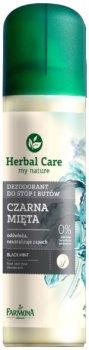 Дезодорант для ног и обуви Farmona Herbal Care Черная мята 150 мл (5900117002957)