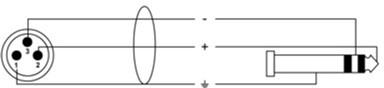 Інструментальний кабель Cordial Rean XLR male / plug 6.3 мм Stereo 6 м Black (CFM 6 MV)