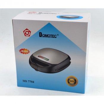 Мультимейкер DOMOTEC MS-7704 4 в 1 гриль, бутербродниця, вафельниця, горішниця