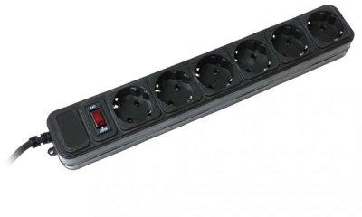 Мережевий фільтр Gembird Power Cube 6 розеток 1.8 m 10A (SPG6-G-6B) Black