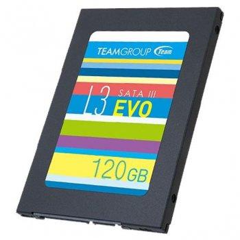 """Твердотільний накопичувач SSD Team 120 GB L3 EVO 2,5"""" SATA III TLC (T253LE120GTC101) для ПК і ноутбука"""
