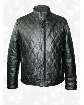 Шкіряна куртка чоловіча Verona 143 Чорний
