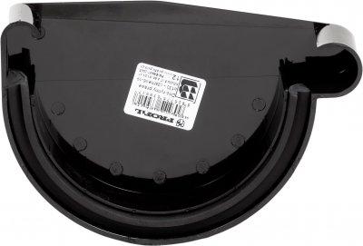 Заглушка жолоба Profil права Р 90 Чорна (5906775639580)