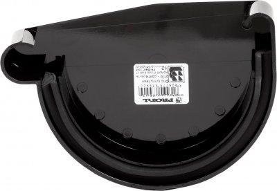 Заглушка жолоба Profil ліва L 90 Чорна (5906775639573)