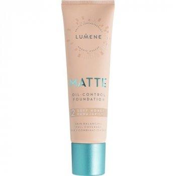 Матирующая тональная основа Lumene Matte Control Oil-Free Foundation Soft Honey 2