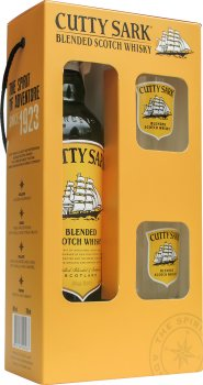 Виски Cutty Sark 0.7 л 40% + 2 бокала (4820196540083)