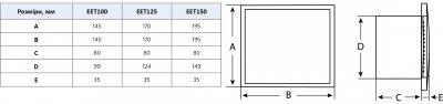Вытяжной вентилятор Europlast E-EXTRA EET150 белый