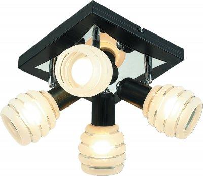 Світильник спотовий Altalusse INL-9269C-04 Chrome & Wengue Е14 4х40 Вт