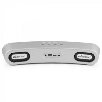 Беспроводная портативная Bluetooth колонка Gibox G6 PRO Silver (1-G6)