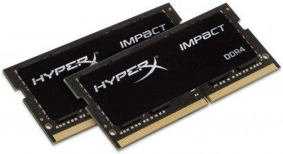 Оперативна пам'ять HyperX SODIMM DDR4-2666 65536MB PC4-21300 (Kit of 2x32768) Impact (HX426S16IBK2/64)