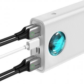 УМБ Baseus Amblight 30000mAh 33W з технологією QC3.0+PD3.0 Білий