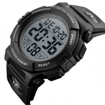 Чоловічий годинник Skmei 1258 Black Big Size BOX (1258BOXBKBS)