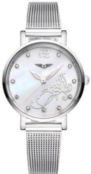 Женские часы Guanqin Silver-White-Silver Flower GS19042 CS (GS19042SWSF)