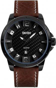 Мужские часы Skmei 9150 BK-coffe strap BOX (9150BOXBKCF)