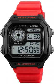 Мужские часы Skmei 1299 Red BOX (1299BOXRD)
