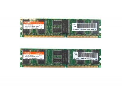 Оперативна пам'ять IBM DDR-RAM 512MB Kit 2x256MB PC2100R ECC CL2.5 (73P2872) Нове