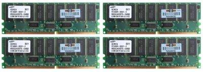 Оперативная память HP DDR-RAM 2GB-Kit 4x512MB/PC1600R/ECC/CL2 (202171-B21) Refurbished