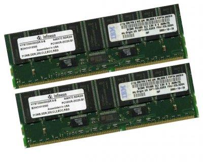 Оперативная память IBM DDR-RAM 1GB Kit 2x512MB PC1600R ECC CL2.5 (33L3283) Refurbished