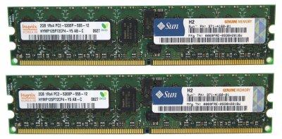 Оперативна пам'ять Sun Microsystems DDR2-RAM 4GB Kit 2x2GB PC2-5300P ECC 2R (371-4160-01) Refurbished